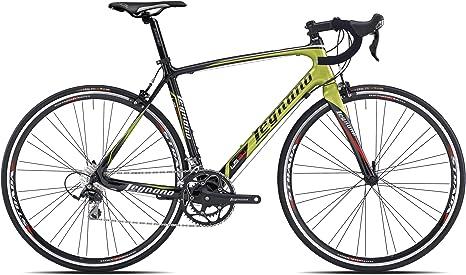 Legnano bicicleta 500 Corsa lg34 Carbon 2 x 10 V Talla 49 negro verde (Corsa Strada)/Bicycle 500 Corsa lg34 Carbon 2 x 10 V Size 49 Black Green (Road Race): Amazon.es: Deportes y aire libre