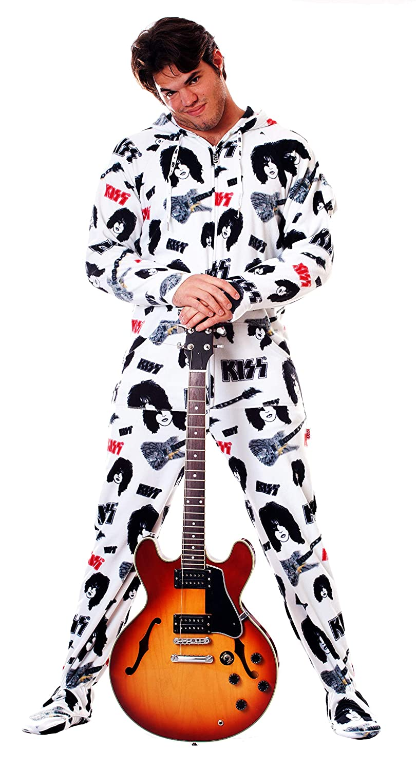 KISS Star Child Hooded Adult Onesie Footed Pajamas Official