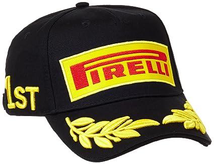 Gorra Pirelli F1 Podium 1st - Negra Original Importada  Amazon.com ... 98a7afe26ee