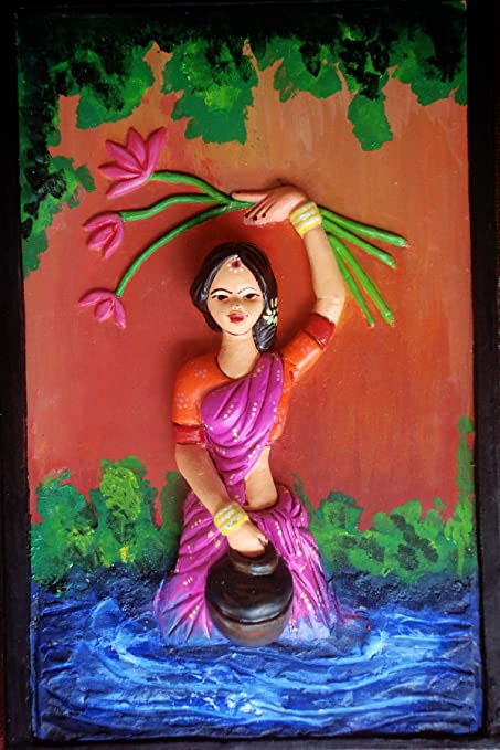 AAHU Art/3D Wall Painting/Canvas Art (Clay, Standard Size