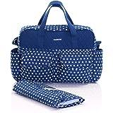 Slimbridge Melrose bebé bolso con cambiador, Azul