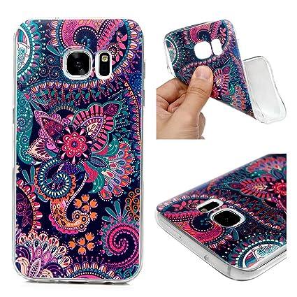 Amazon.com: Carcasa para Galaxy S7, ultra delgada piel HD ...