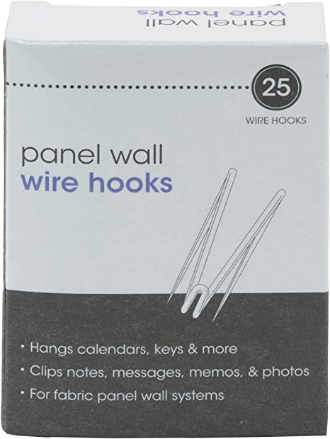 Details about  /1 Cubicle Panel Wall Wire Hooks Stainless Pin Fabric Material Name Plate Hanger