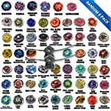 Beyblade Random 6 Pack Grab Bag Metal Fusion, Metal Fury, Metal Master Series Equipped w/ Two LL2 BB-87 Launchers Collect them all and Let it Rip USA Seller
