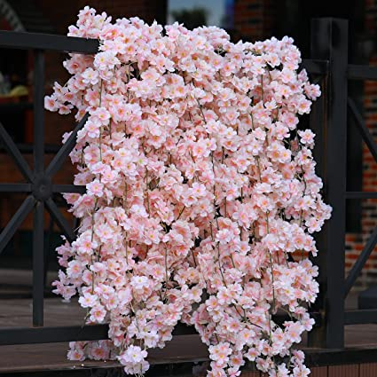Amazon Party Joy Artificial Cherry Blossom Garland Hanging Vine