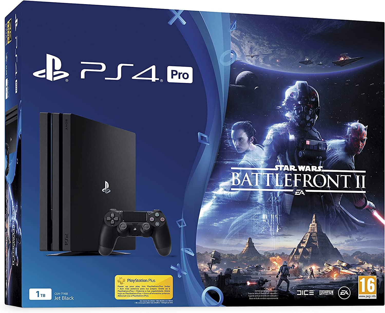 Sony PlayStation 4 Pro + StarWars Battlefront II Negro 1000 GB ...