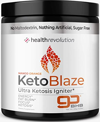 Health Rev Keto Igniter Electrolyte Powder Beat Leg Cramps, Boost Energy, Patented BHB Salts for Easy Ketosis, Weight Loss, Focus