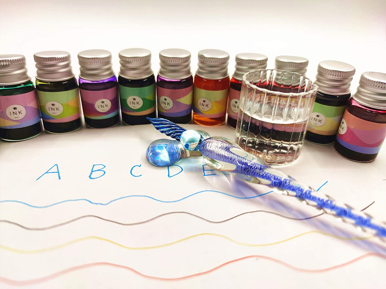 Fancy new glass-dipped Fountain Pen set Calligraphy Pen Set Glass Pen Set