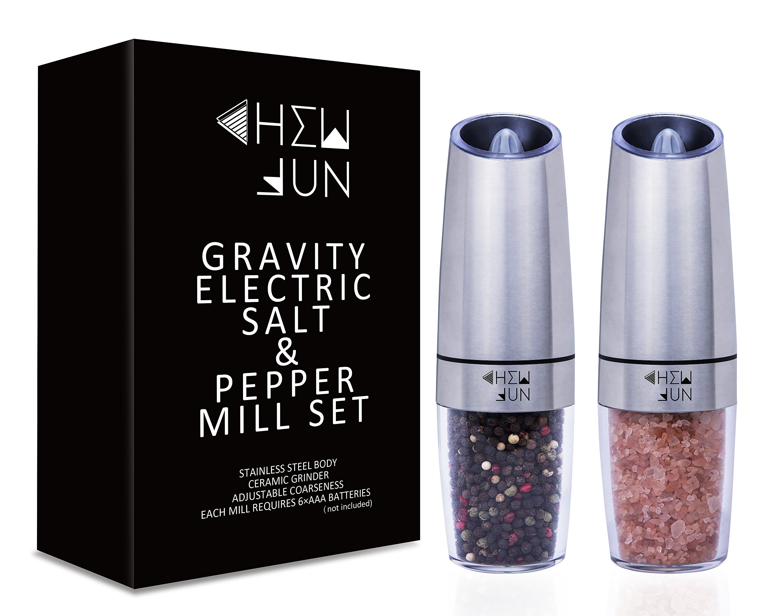Galleon Gravity Electric Salt And Pepper Grinder Set Of