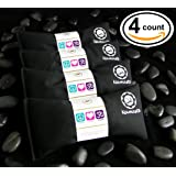 Happy Wraps® Yoga Flax Seed Eye Pillows Unscented - 4 Pieces - Black Cotton