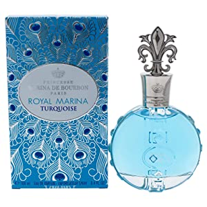 Royal Marina Turquoise by Princesse Marina de Bourbon | Eau de Parfum Spray | Fragrance for Women | Fresh Floral Scent with Notes of Green Apple and Lily of the Valley | 100 mL / 3.4 fl oz