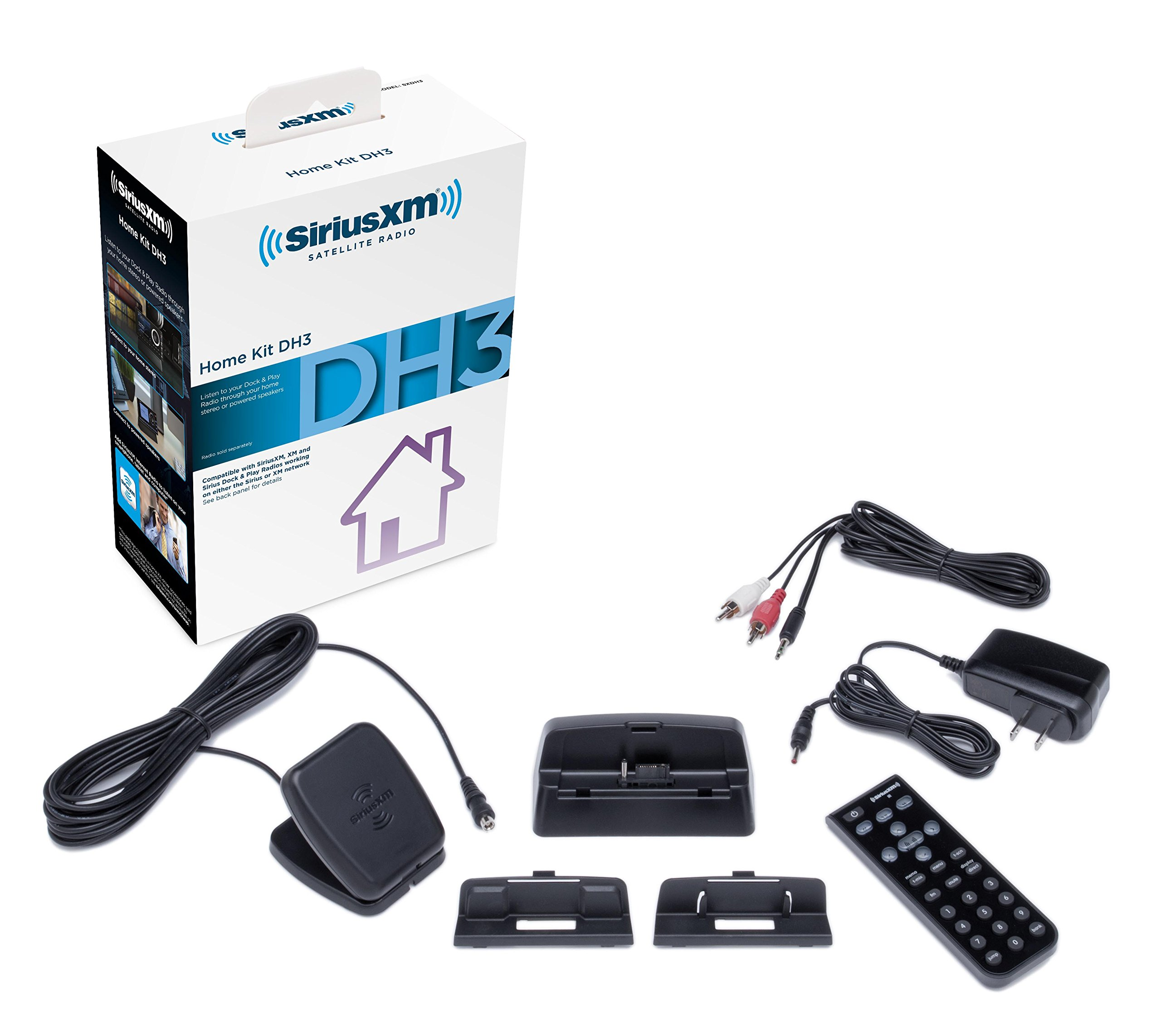 SiriusXM SXDH3 Satellite Radio Home Dock Kit with Antenna and Charging Cable (Black) by SiriusXM