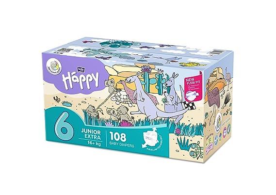 Bella Baby Happy pañales tamaño.6 Junior Extra, 1er Pack (1 x 108 unidades): Amazon.es: Salud y cuidado personal
