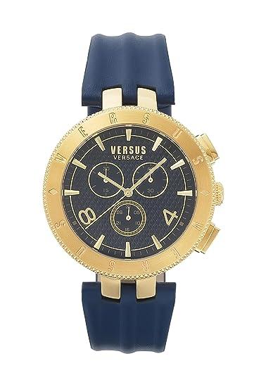 Versus By Versace Reloj Cronógrafo de Cuarzo para Hombre con Correa de Cuero – S76090017