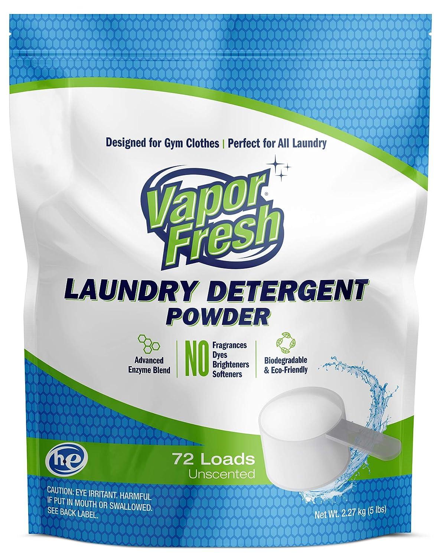 Vapor Fresh Laundry Detergent Powder, HE-safe, Free & Clear, No Scent, 5 lb by Vapor Fresh B00BKQ2YPC