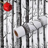 Hode Berkenboom Zelfklevend Behang 45cmX300cm Meubelsticker Peel en Stick Verwijderbare Vinyl Film Roll voor Muur…