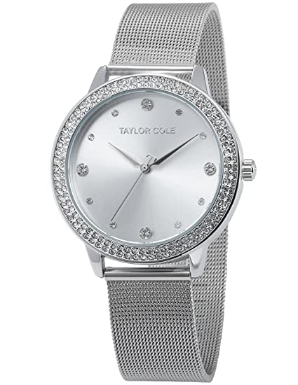 Taylor Cole Echo Reloj Mujer de Pulsera Cuarzo Acero Inoxidable Rosa Oro Plata Negro