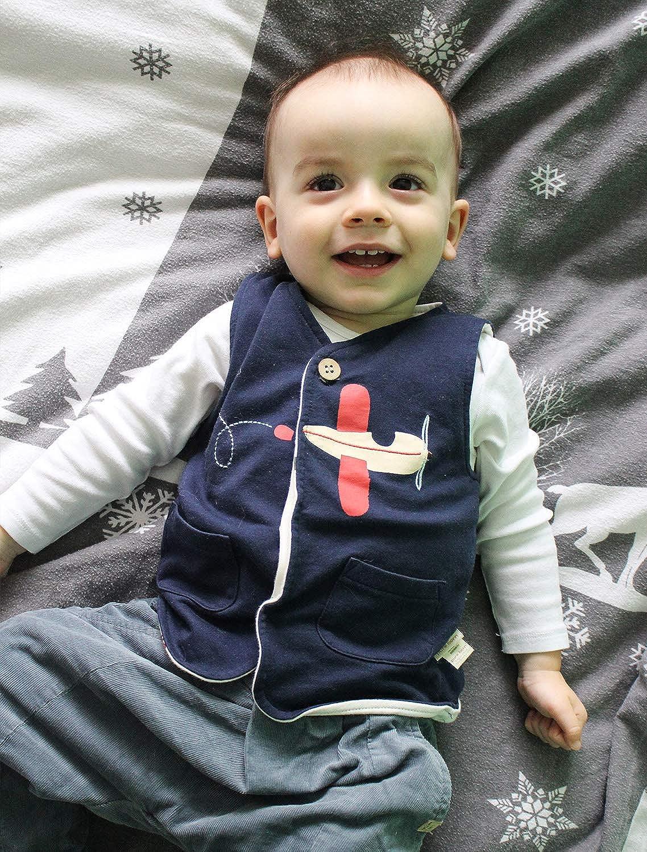 pureborn Baby Girls Boys Waistcoat Sleeveless Cotton Lightweight Vests 0-4 Years