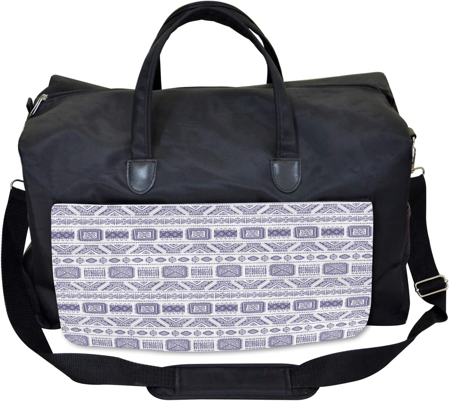 Ambesonne Tribal Gym Bag Large Weekender Carry-on Mexico Aztec Ethnic Boho