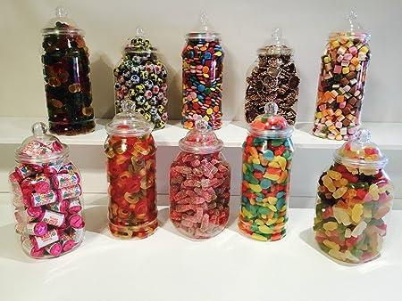 10 x mixed 1l jars vintage victorian pick mix sweet shop candy