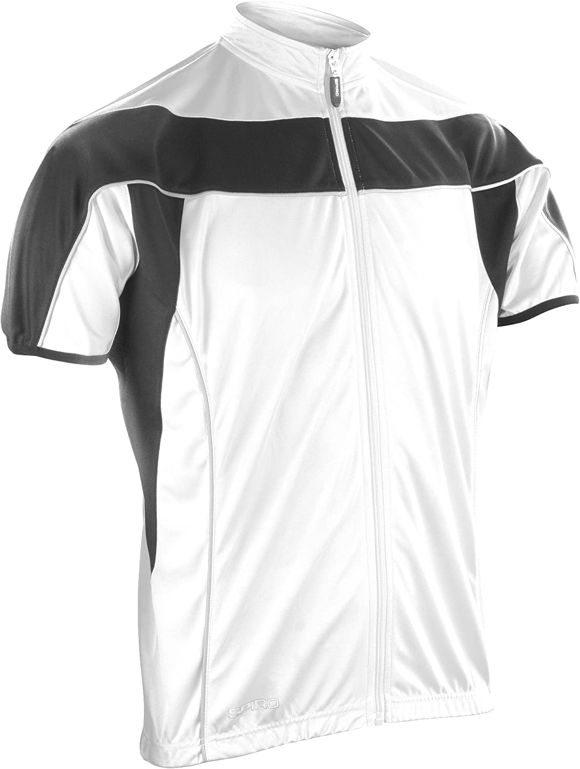 Spiro Cycling Vest Black//White Cyclist Tour Full Zip Performance Top Mens