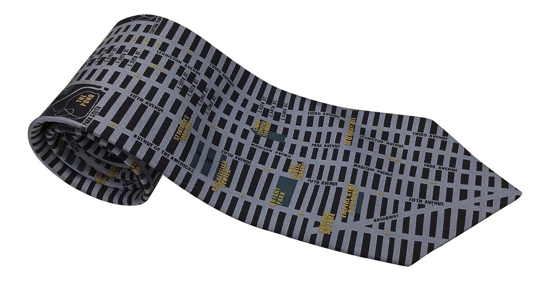Mens 100/% Silk Novelty Tie Necktie 3 Styles Including New York Rome and Paris