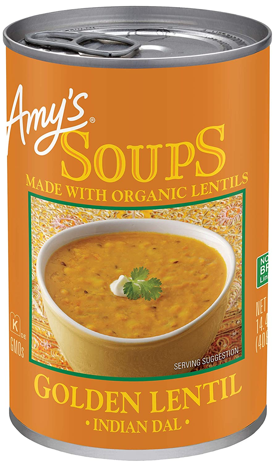 Amy'S Organic Soups, Golden Lentil, 14.4 Ounce (Pack von 12)