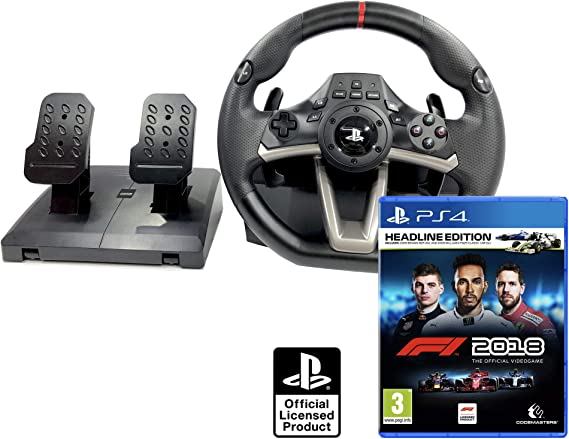 Volante PS4 Licencia Original Playstation 4 RWA Apex + Formula 1 2018 Headline Edition - F1 2018: Amazon.es: Videojuegos