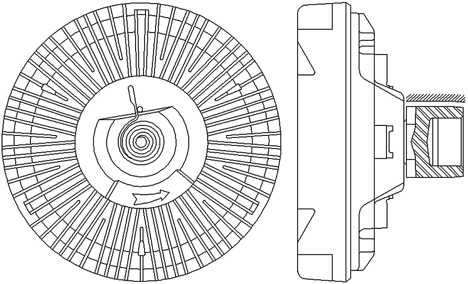 Acdelco 15 4694 Gm Original Equipment Engine Cooling Fan 1985 Trans Am Wiring Diagram Electric Clutch Automotive