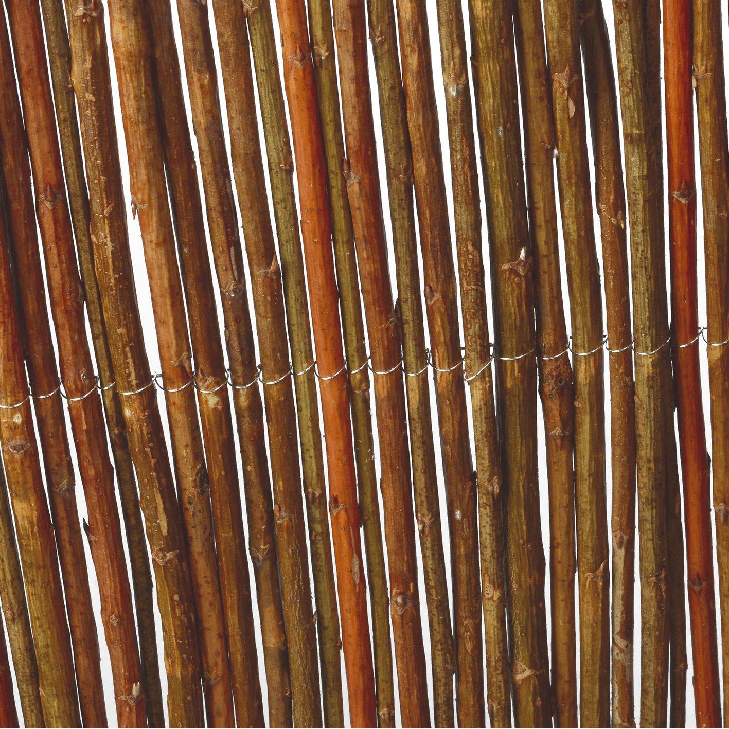 Weidenmatte 300 x 50 cm Weidenzaun Naturzaun Winterschutz