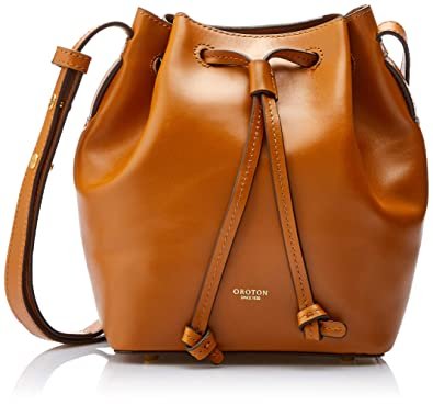 5ba63ac0c022 Oroton Women's Escape Mini Bucket Bag, Cognac, One Size: Amazon.com ...