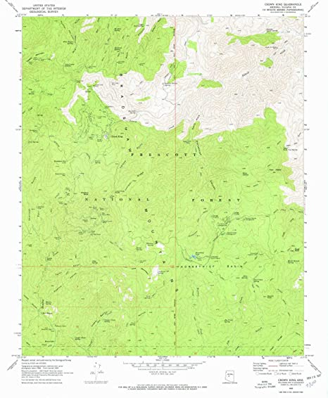 Map Of Crown King Arizona.Amazon Com Yellowmaps Crown King Az Topo Map 1 24000 Scale 7 5 X