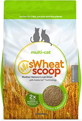 sWheat Scoop All-Natural Cat Litter, Flushable