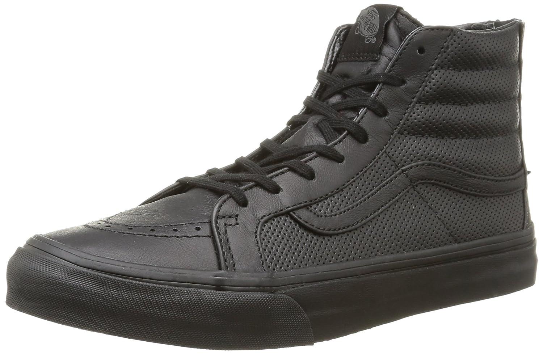 Vans U Sk8-Hi Slim Zip Perf Leather - Zapatillas Bajas Unisex 37 EU|Perf Leather/Black/Black