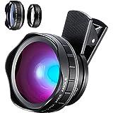 YIEASY スマホ用カメラレンズ 超広角(0.45Xワイドレンズ) 15Xマクロレンズ 2in1