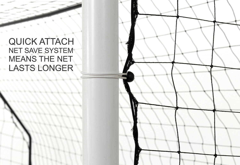 QUICKPLAY PRO Match-Fold Gamma di obiettivi da calcio portatili con borsa da trasporto allenatori e il miglior obiettivo di calcio sul mercato Obiettivo di calcio pieghevole con impostazione rapida per club Obiettivo singolo