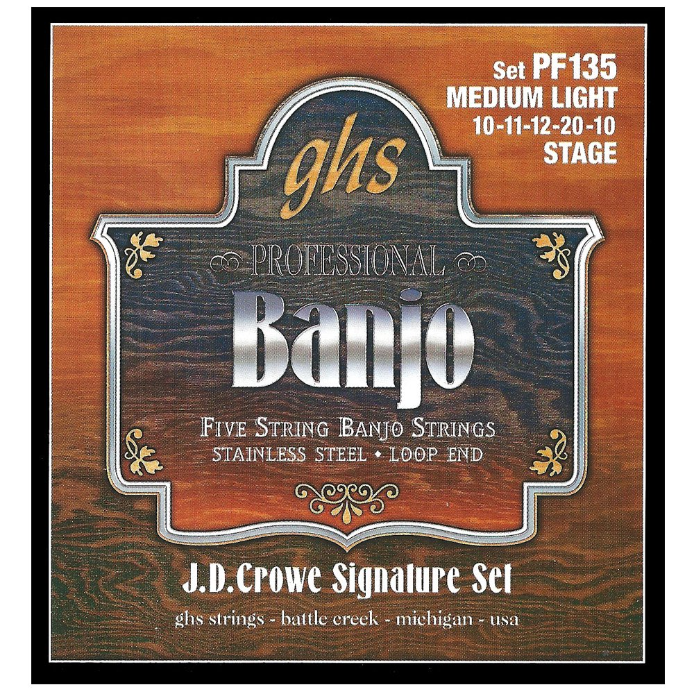 GHS Strings Banjo Set (Light, Stainless Steel) PF170