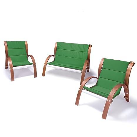 Ampel 24, Salon de jardin MALIBU | Chaise et banc avec accoudoirs ...