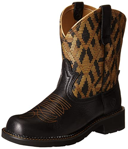 Ariat Women's Fatbaby Heritage Vivid Western Cowboy Boot, Vintage Black/Golden  Blanket Red,