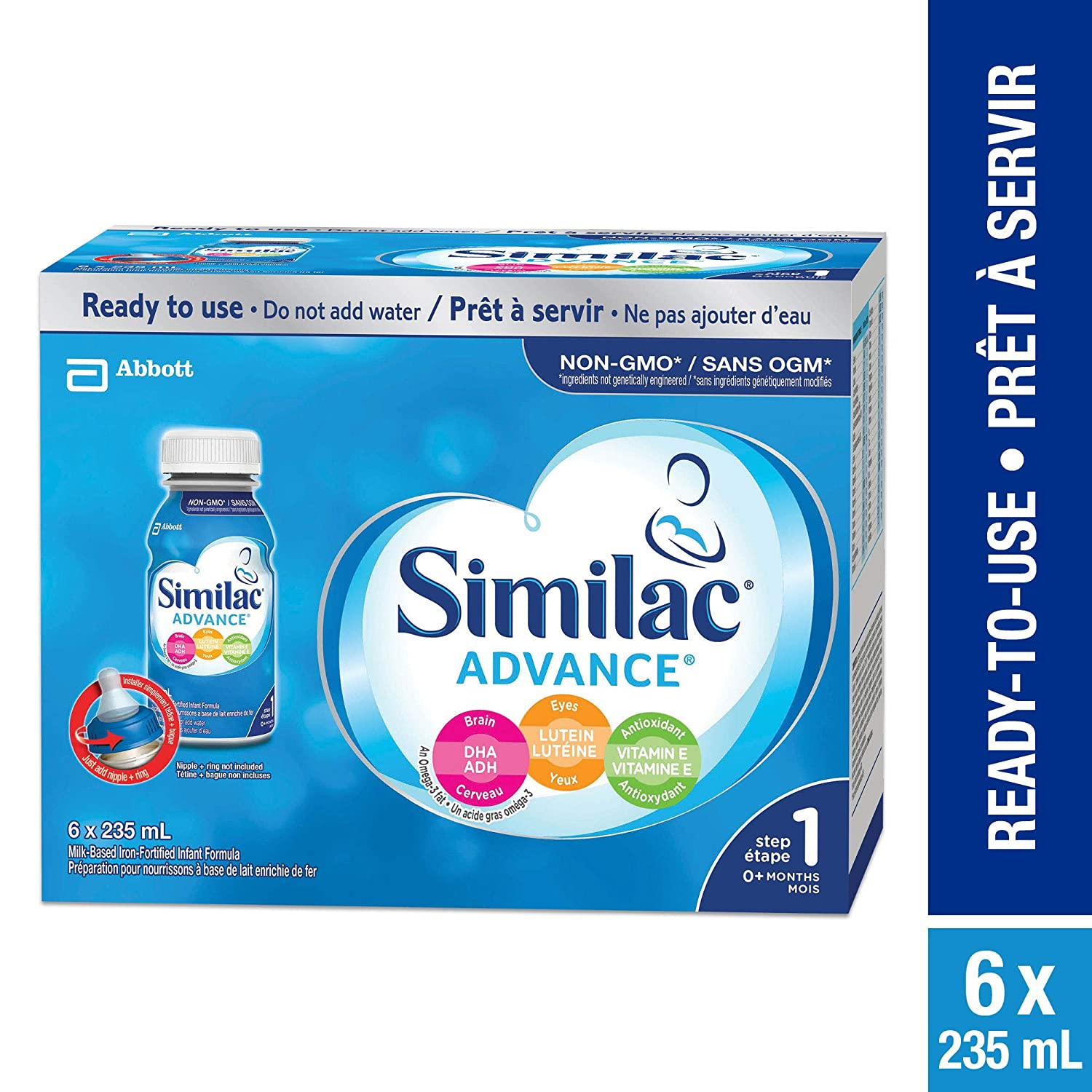 Similac Advance Step 1 Infant Formula, Ready to Feed Bottles YES