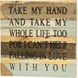 """Sweet Bird and Company """"Take My Hand"""" Core Line Sign, Blue Whisper Finish"""