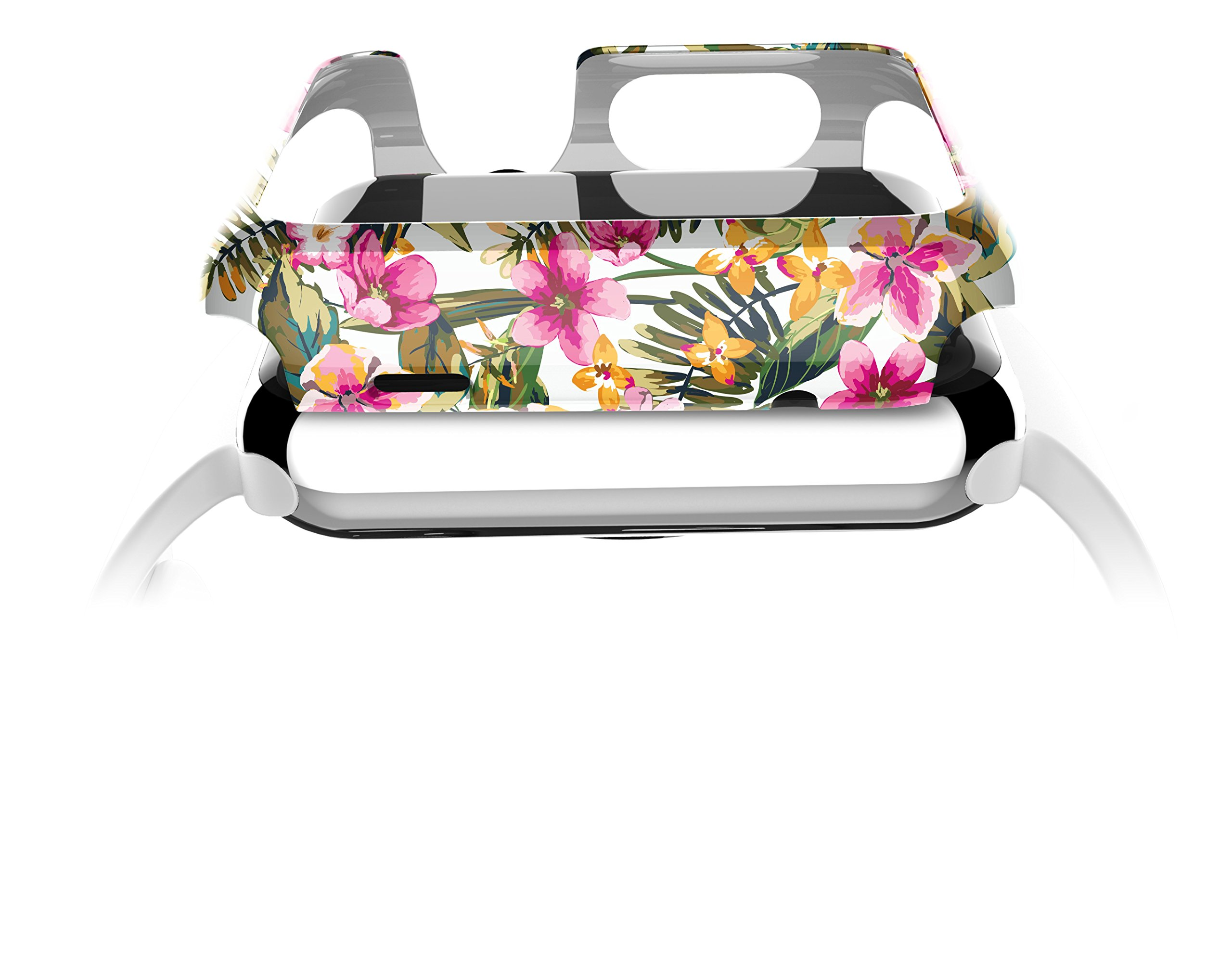 X-Doria 38mm Apple Watch Case (Revel Bumper) Fashion Case (Floral Palm) - Compatible with Apple Watch Series 1, Series 2, Series 3 and Nike+ by X-Doria (Image #2)