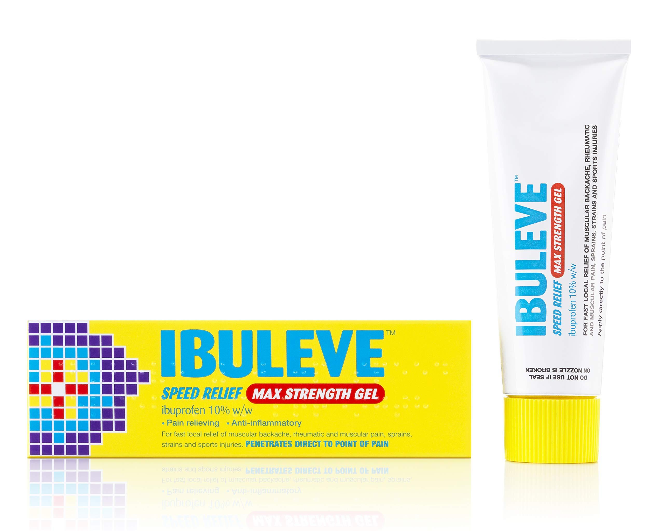 Ibuleve Speed Relief Max Strength Gel with 10% Ibuprofen, 40g