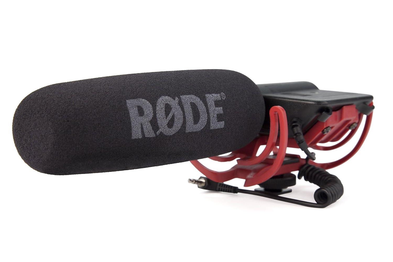 Rode VideoMic Rycote, Microfono Direzionale a Condensatore Mezzo Fucile per Utilizzo con Fotocamere e Videocamere, Nero/Antracite Rode Microphones VIDEOMICR Eccellentequalitàaudio Spugnaantiventointegrale