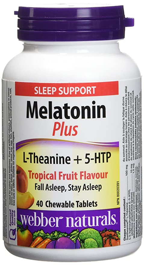 Webber Naturals Melatonin Plus, L-Theanine And 5-Htp, 1.5 Mg (100Mg, 15Mg)  40-Count: Amazon.ca: Health & Personal Care