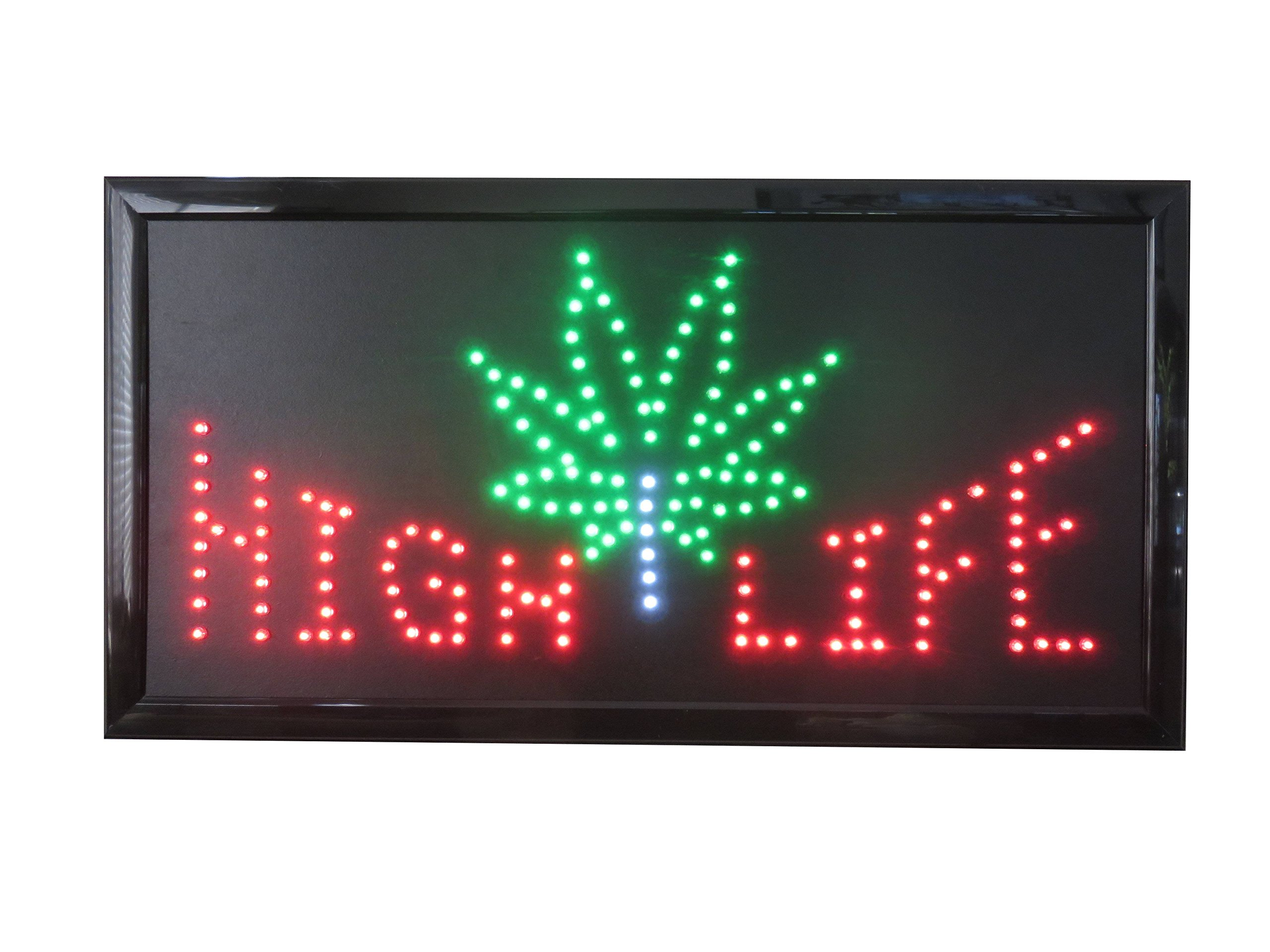 19x10 LED Neon Sign Lighting by Tripact Inc - Single Switch: Power for Business Identification - High Life