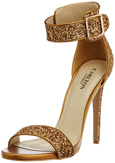 Buy Carlton London Golden Sandals for Women Online United States Best Prices Reviews CA027SH89MSRINDFAS