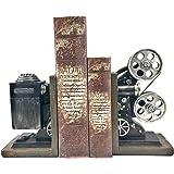 #1 Vintage Camera Projector Bookends, Black/Silver Collector's Items