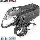 Roxim RX5A Premium LED Frontlicht / Fahrrad-Lampe / Scheinwerfer - mit 5x Leuchtmodi & Automatischer Lichtsteuerung - StVZO zugelassen