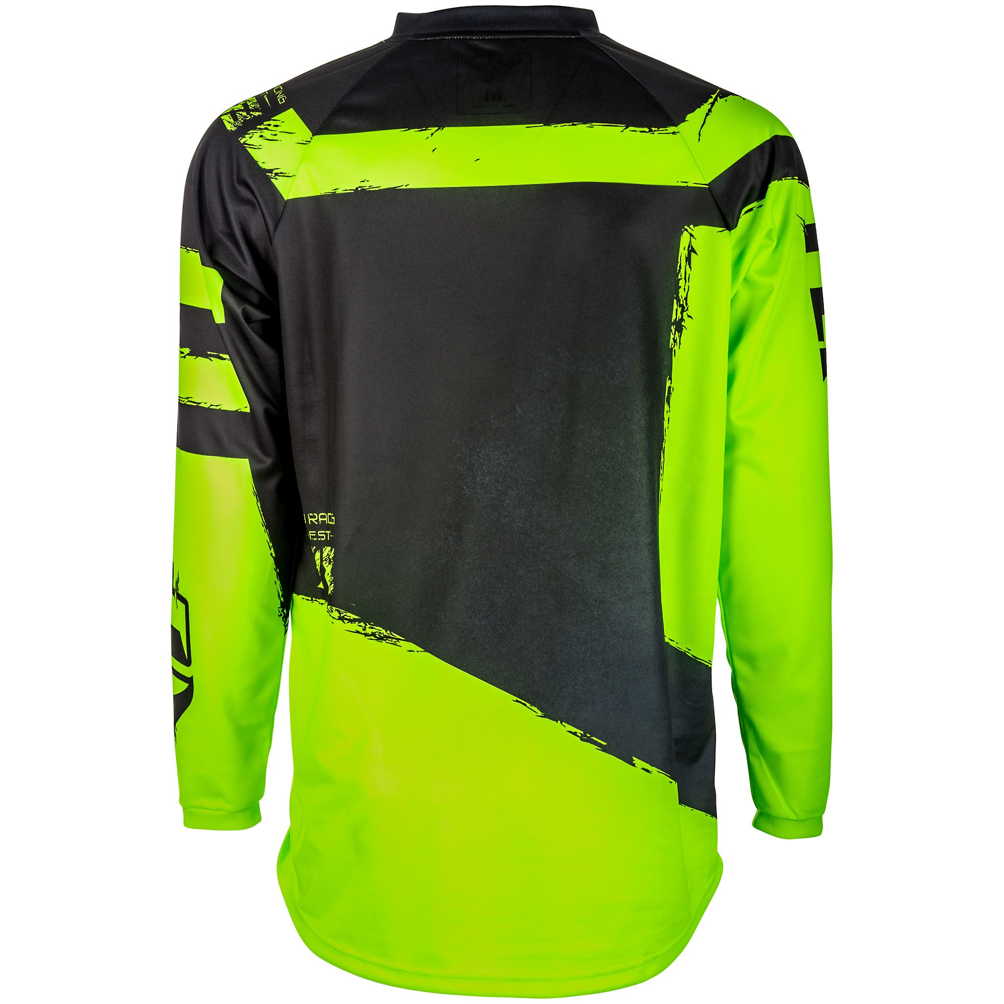 Fly Racing Men's Jersey (Black/Hi-Vis, X-Large)